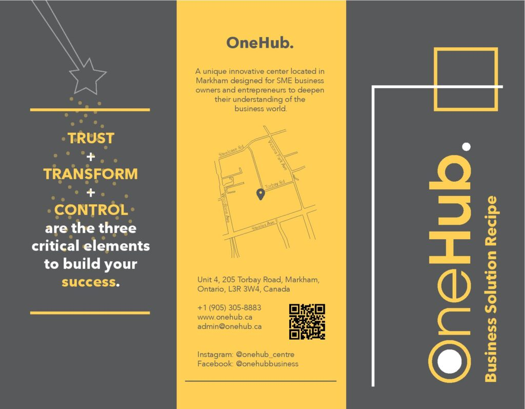 OneHub Business Solution Recipe Brochure