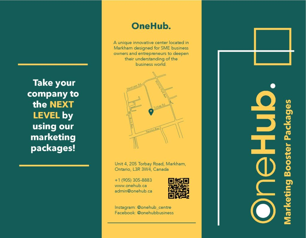 OneHub Marketing Booster Packages Brochure
