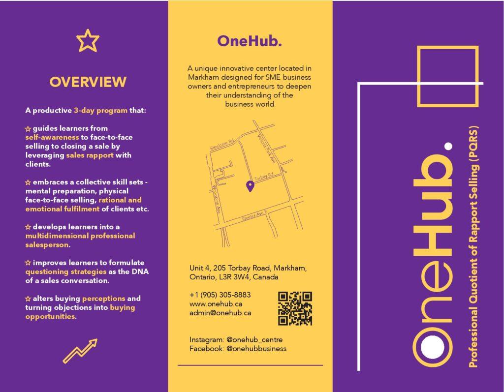 OneHub Professional Quotient Rapport Selling Brochure
