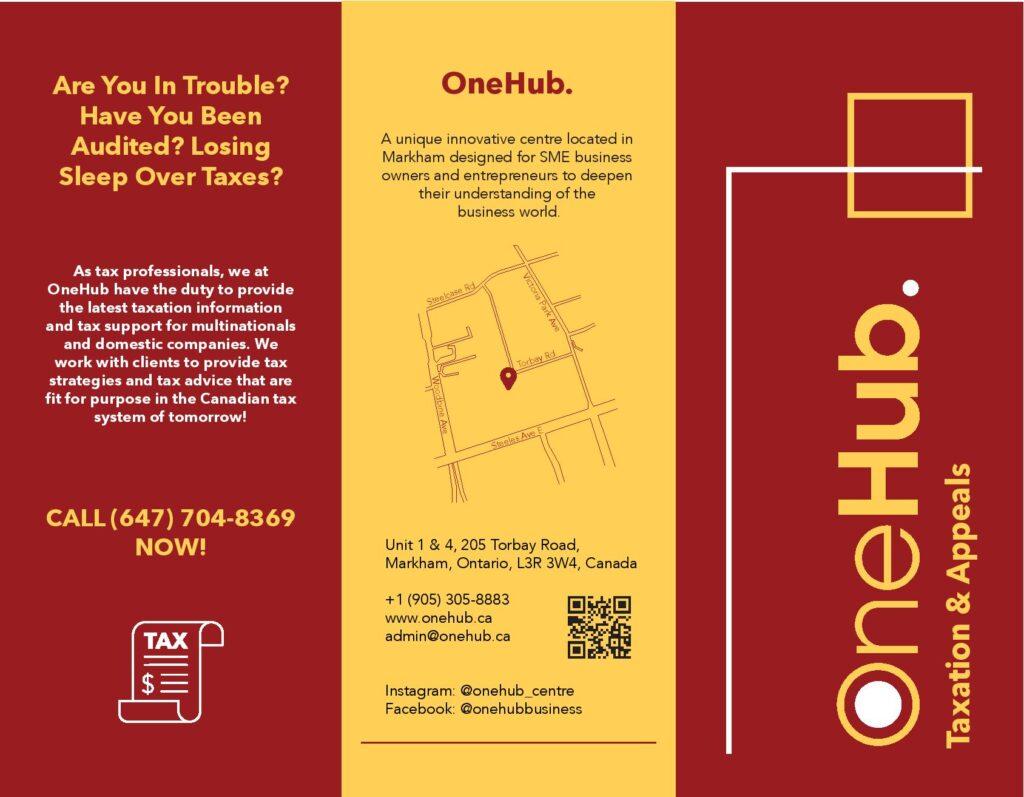 OneHub Taxation & Appeals Brochure