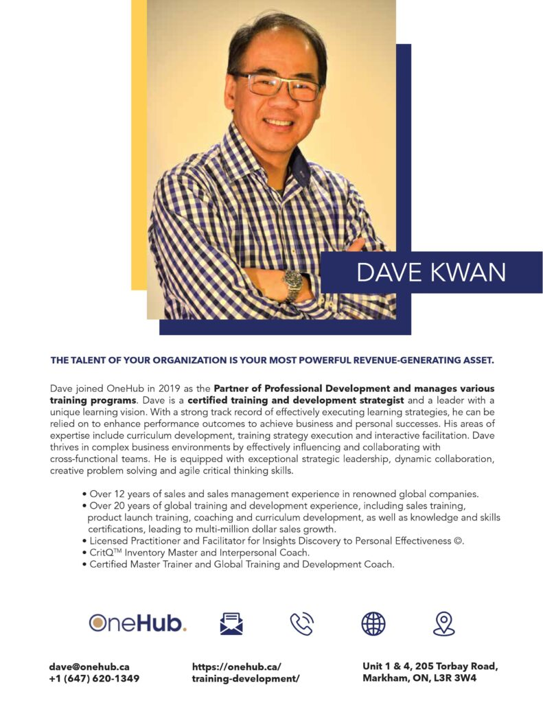 Dave Biography - One Pager