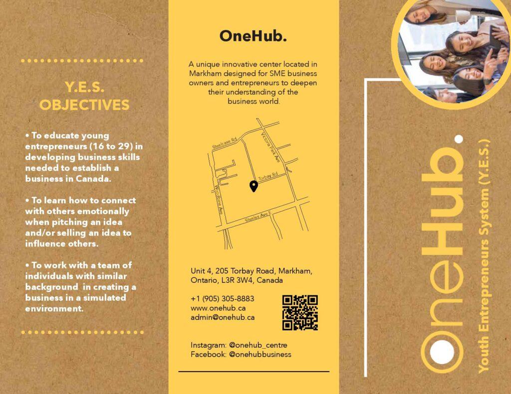 OneHub Youth Entrepreneurs System Brochure