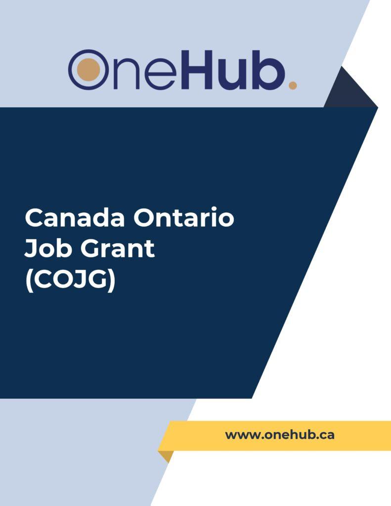 OneHub Canada Ontario Job Grant Program Info Package