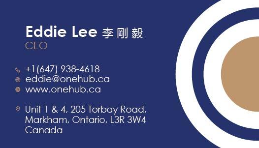Eddie Lee (CEO) OneHub Business Cards