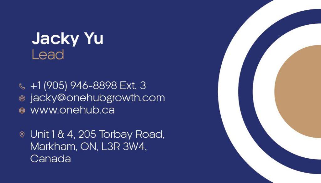 Jacky Yu Business Cards