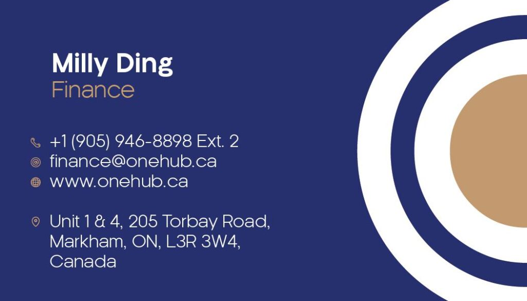 Milly Ding Business Cards