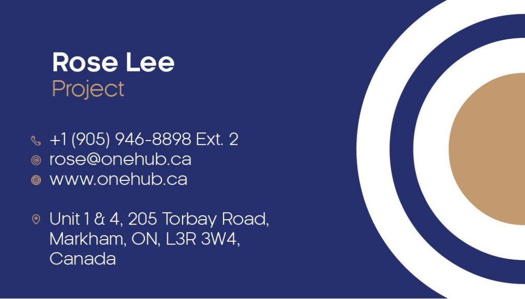 Rose Lee Business Cards